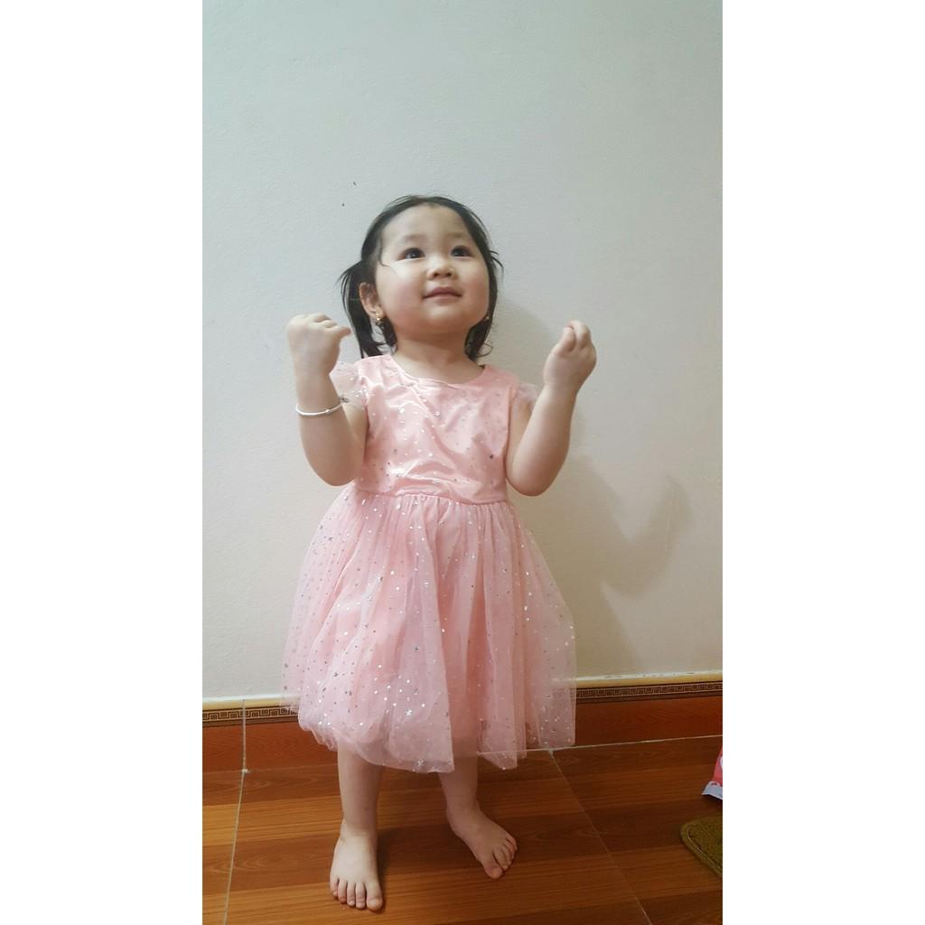 Váy công chúa óng ánh 2 lớp