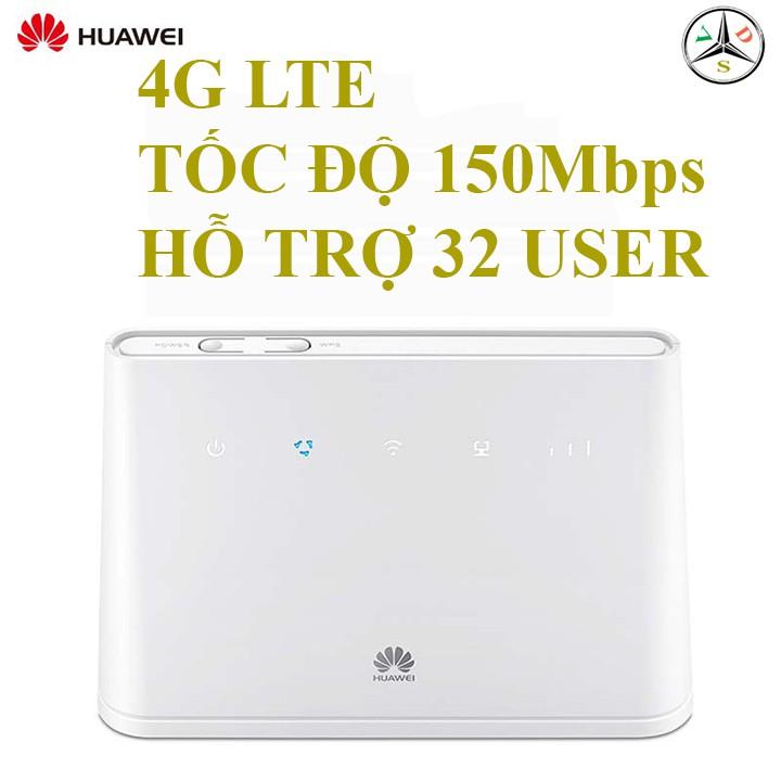 Cục phát wifi 3G/4G không dây Huawei B311 tốc độ cao, 32 người truy cập, có cổng LAN tặng kèm ăng ten