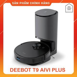 Robot Hút Bụi Lau Nhà Ecovacs DEEBOT T9 AIVI PLUS – Robot Thông Minh Có Thùng Rác Tự Động, APP TIẾNG VIỆT