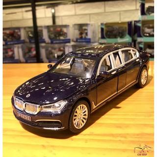 Xe mô hình ô tô siêu xe BMW 760Li hãng XLG tỉ lệ 1:24 màu xanh