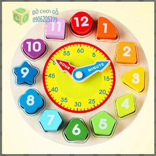 Đồng hồ số hình khối