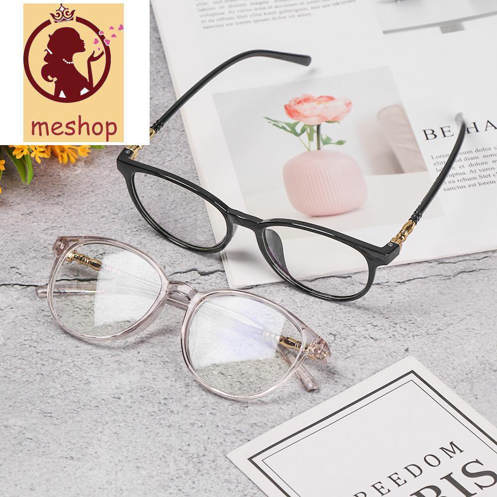🍒ME🍒 Retro Vision Care Flexible Portable Eyeglasses Computer Glasses Resin Anti Blue Rays Fashion Myopia Prescription Flat Lens/Multicolor