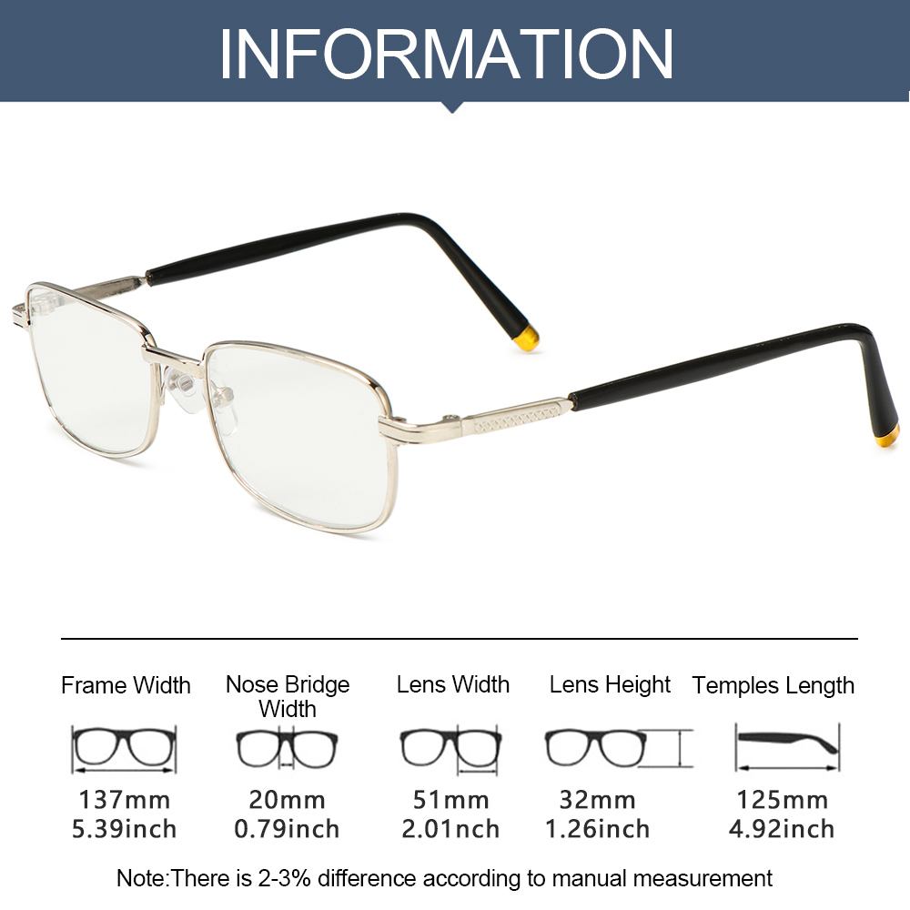 ROW Fashion Reading Eyeglasses Vision Care +1.0 to +4.0 Presbyopia Eyewear Computer Goggles Vintage Classic Men Women Unisex with Case&Clean...
