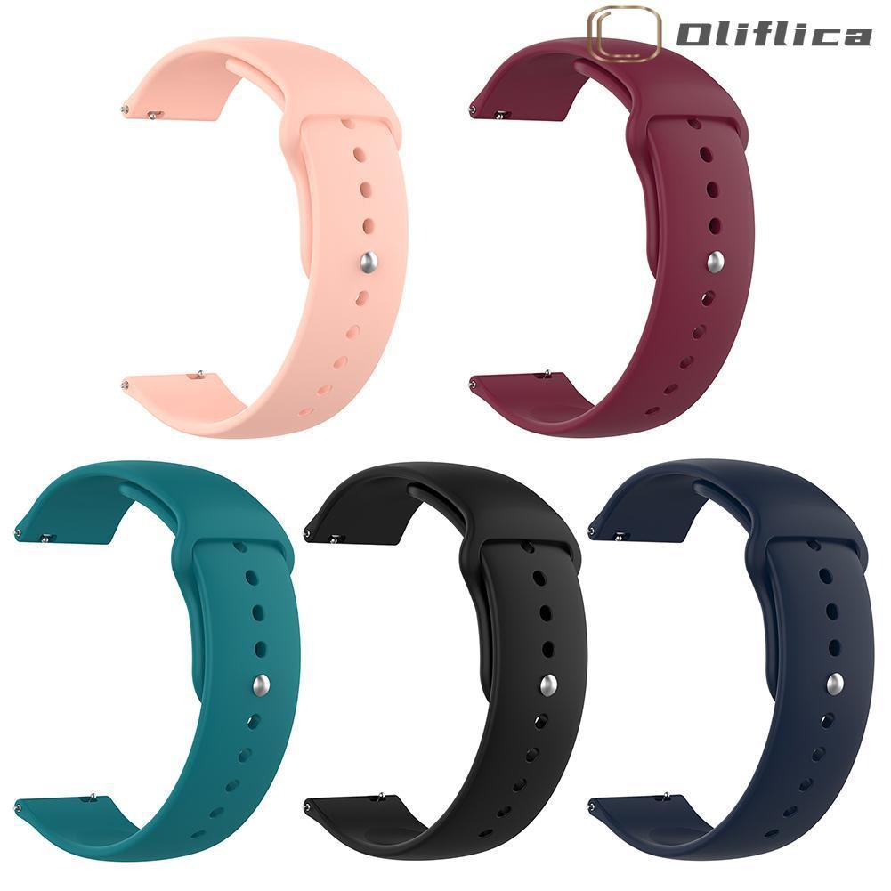 (hàng Có Sẵn) Dây Đồng Hồ Silicon 20mm Cho Samsung Galaxy Watch Active 2