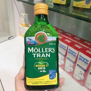 Sản phẩm dầu gan cá tuyết moller's tran cho bé