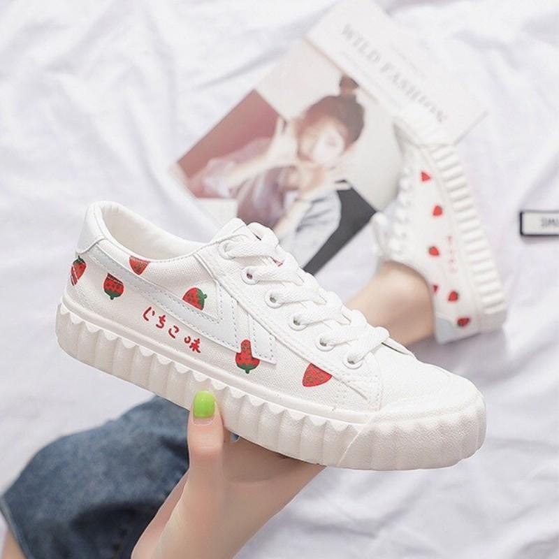 Giày Ulzzang Nữ DVT06 In Hình Cute Dễ Thương Kiểu Dáng Hàn Quốc New