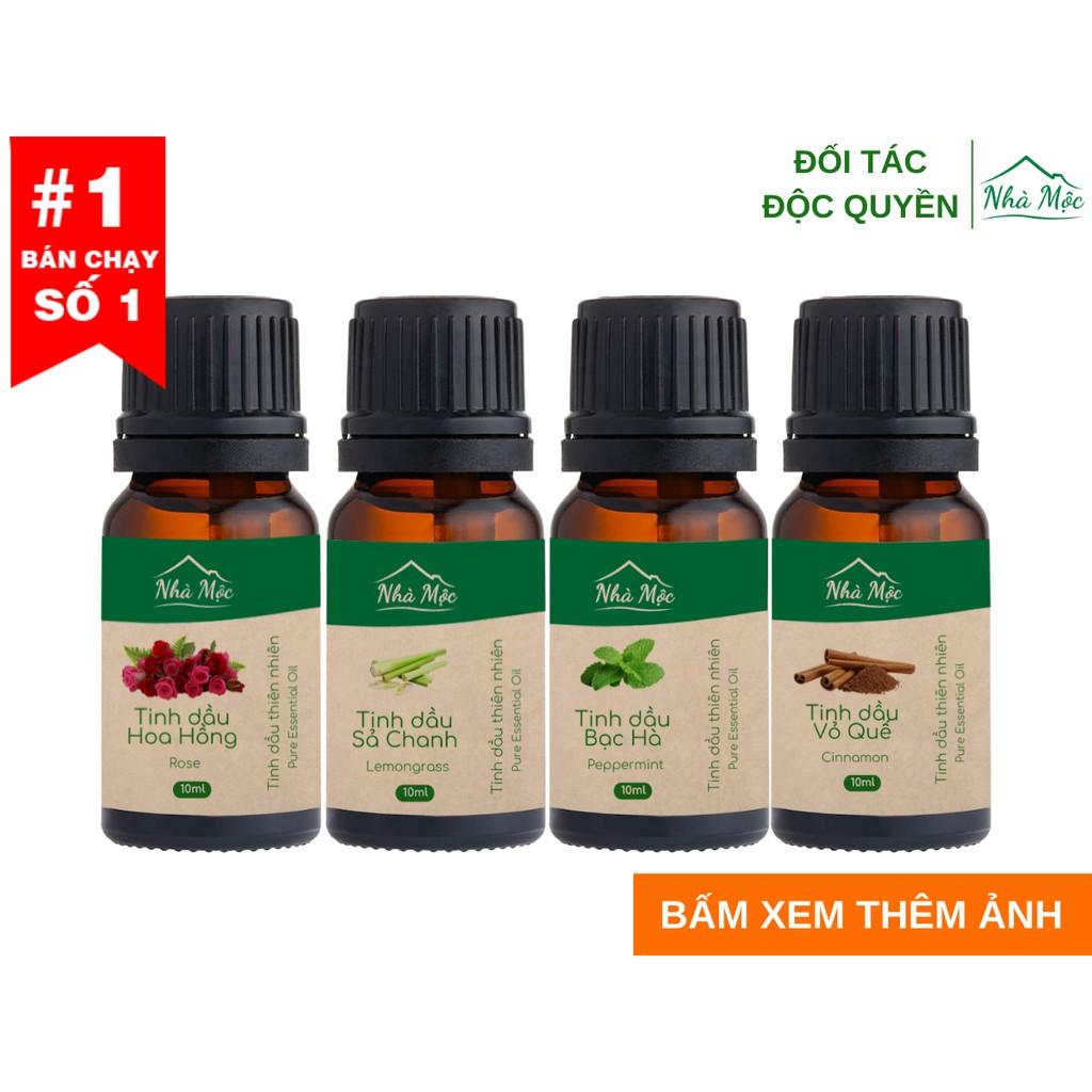 (Tặng que khuếch tán) Tinh dầu Nhà Mộc nguyên chất có kiểm định giúp khử mùi, thư giãn: Tinh dầu Sả Chanh, Tràm Gió