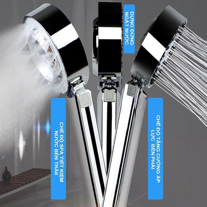 Bát sen tắm 2 mặt, vòi hoa sen tắm tăng áp, tạo bọt mát sa 2 chế độ