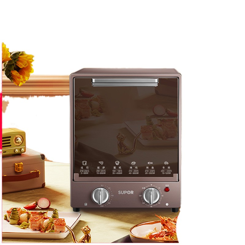 ◎□❏Lò nướng điện gia dụng Supor mini đa năng tự động bánh nhỏ dung tích lớn 15L lít