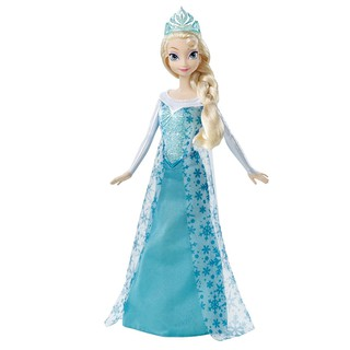 Đồ chơi búp bê Elsa 24 Cm + Vương miện và vòng cổ trang trí bánh kem (Không kèm quần áo)