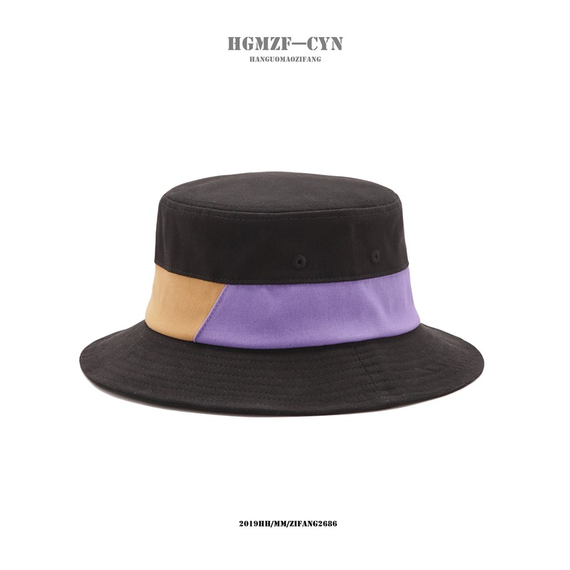 Hat female spring and summer fashion contrast color visor male casual simple fisherman hat Korean version of the wild fo