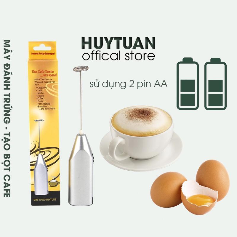Máy đánh trứng sữa tạo bọt cà phê cầm tay mini sử dụng 2 pin AA