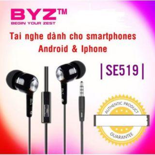 [Mã ELFLASH5 giảm 20K đơn 50K] Tai Nghe In-Ear BYZ SE519_bảo hành 6 tháng