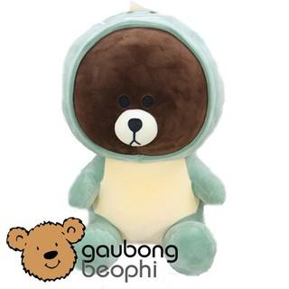 Gấu Brown Mặc Áo Khủng Long Hàng Nhập Cao Cấp Size 35cm