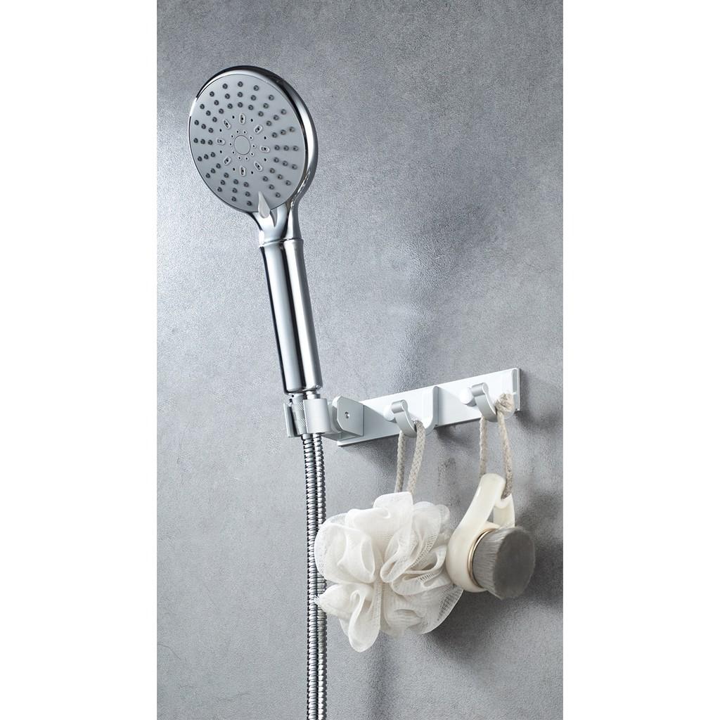 giá đỡ vòi sen hợp kim nhôm ,được dùng nhiều làm giá đỡ trong phòng tắm,bao gồm giá đỡ vòi hoa sen và 2 móc treo