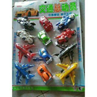 1Vỉ đồ chơi ôtô máy bay