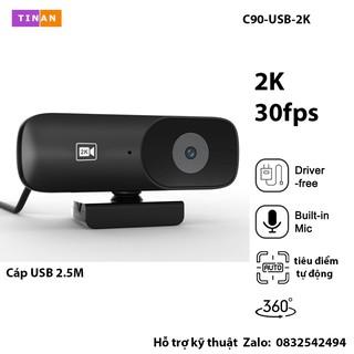 [ 2K, Micro ] Webcam USB 2K Kèm Micro Phù Hợp Khi Phát Trực Tiếp, Dạy Học Trực Tuyến Hoặc Hội Nghị thumbnail