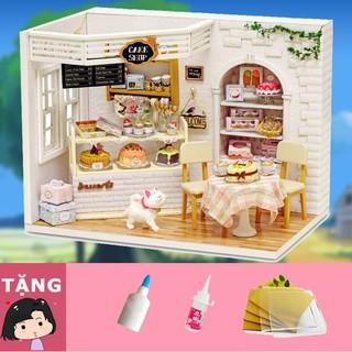 Mô hình nhà gỗ tự ráp Nhật ký bánh ngọt