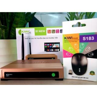 Android tivi Box Kiwi S1 New,Kèm Chuột Android 5.0 – Sản phẩm chính hãng