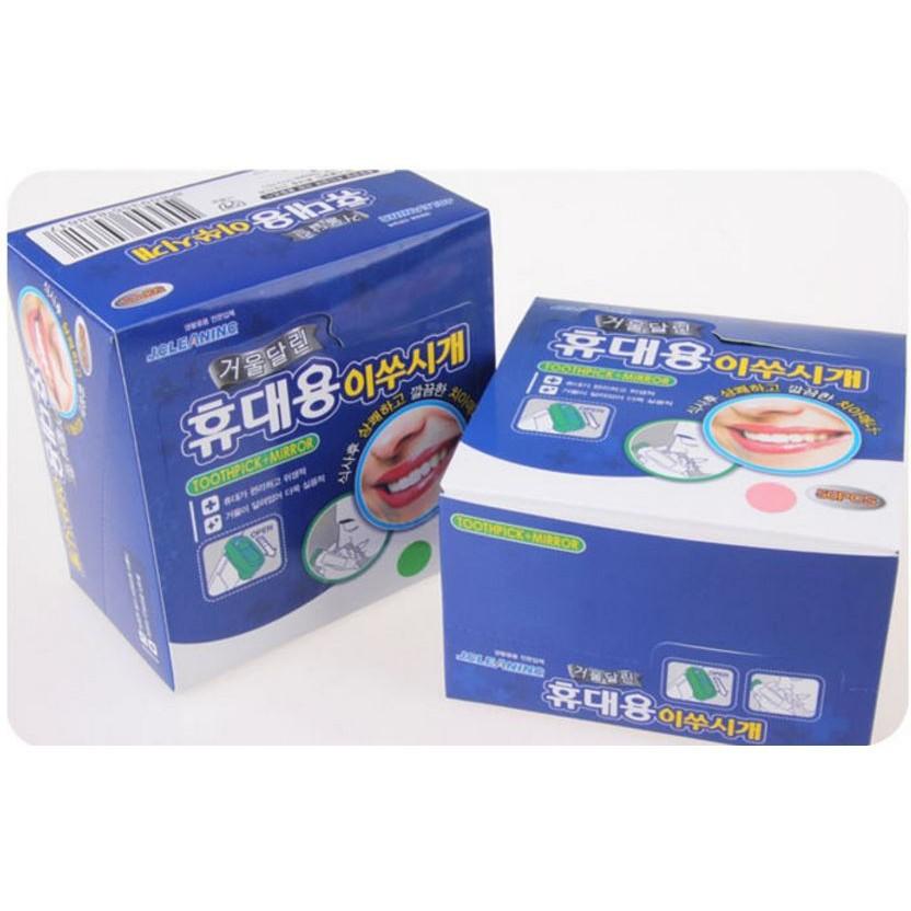 [FLASH⚡️SALE] Hộp 30 tăm nhựa an toàn Hàn Quốc   Hàng Bán Chạy
