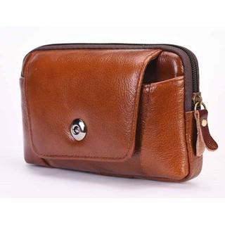 Túi đeo hông da thật đựng điện thoại cao cấp Đồ Da Thành Long TLG 208261 (Nâu)