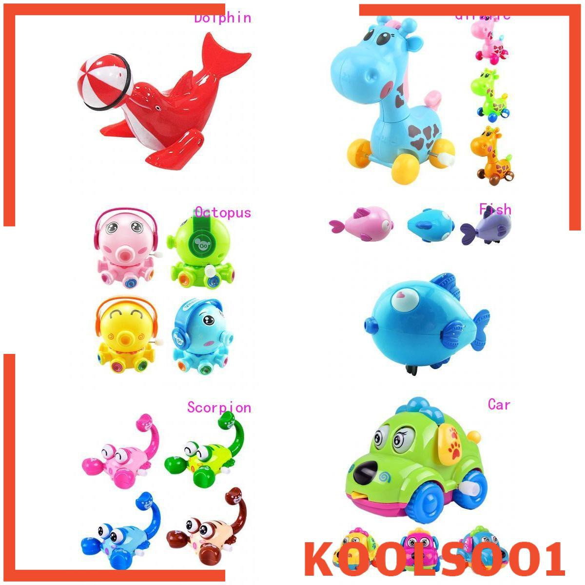 [KOOLSOO1] Wind Up Toys for Kids Child Party Favors Assorted Animal Clockwork Hopping Toy