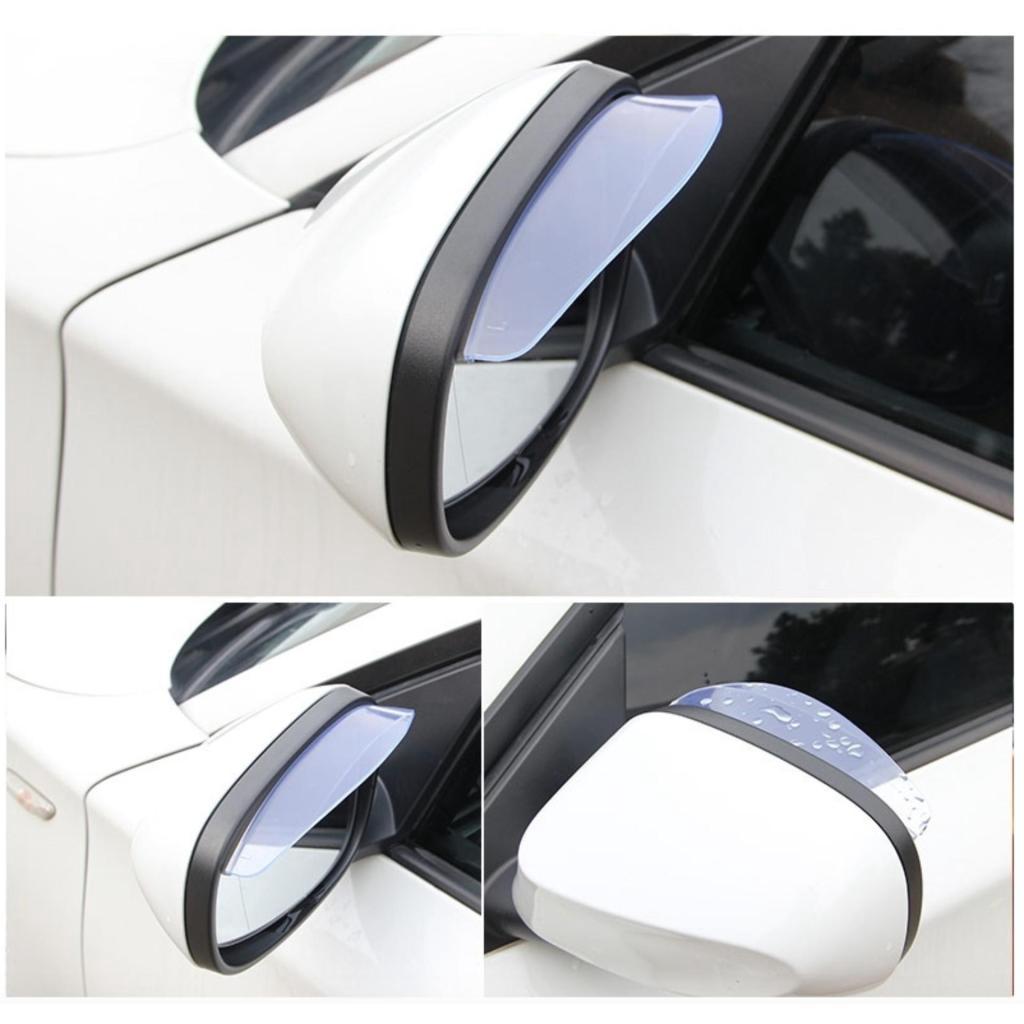 อะไหล่รถยนต์ LOV-M คิวกันฝนติดกระจกมองข้างรถยนต์ แผ่นกันฝน ติดกระจกมองข้างรถยนต์ แผ่นกันน้ำ คิวกันน้ำฝน  (white)ะไหล่รถย