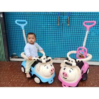 [Mã TOYFSS6 giảm 15K đơn bất kì] Xe đẩy-xe chòi chân con lợn có vòng bảo vệ có nhạc có đèn ( ảnh thật)
