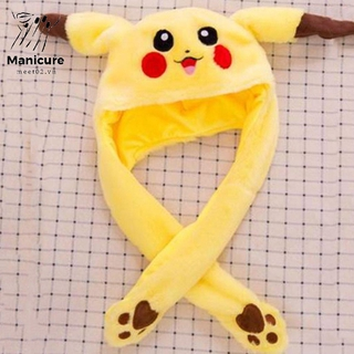Toy Hat Pinch Long Ears Moving Hat Plush Rabbit Ears Hat Funny Hat Airbag Cap