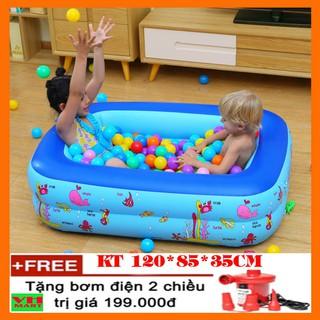 Bể bơi phao YOYO KT 120*85*35cm (Tặng kèm bơm điện)