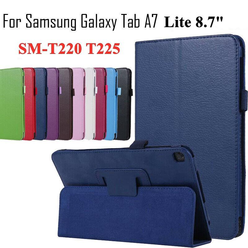Bao Da Máy Tính Bảng Nắp Lật Chống Sốc Cho Samsung Galaxy Tab A7 Lite 8.7 Sm-T220 T225 2021 Ốp