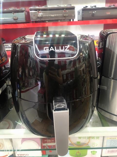 Nồi chiên không dầu [ TẶNG  chai xịt dầu] Nồi chiên không dầu GALUZ LUX 02  cao cấp 5,3 lít
