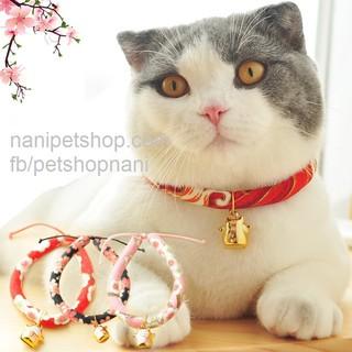 [Mẫu mới mèo thần tài] Vòng cổ mèo phong cách nhật bản - Có dây chỉnh cỡ - Nà Ní Pet Shop thumbnail