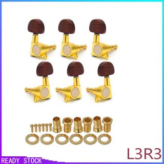 6 Pcs/set Metal Knob Enclosed Acoustic Guitar Tuning Pegs String Tuning Pegs Tuners Machine Heads