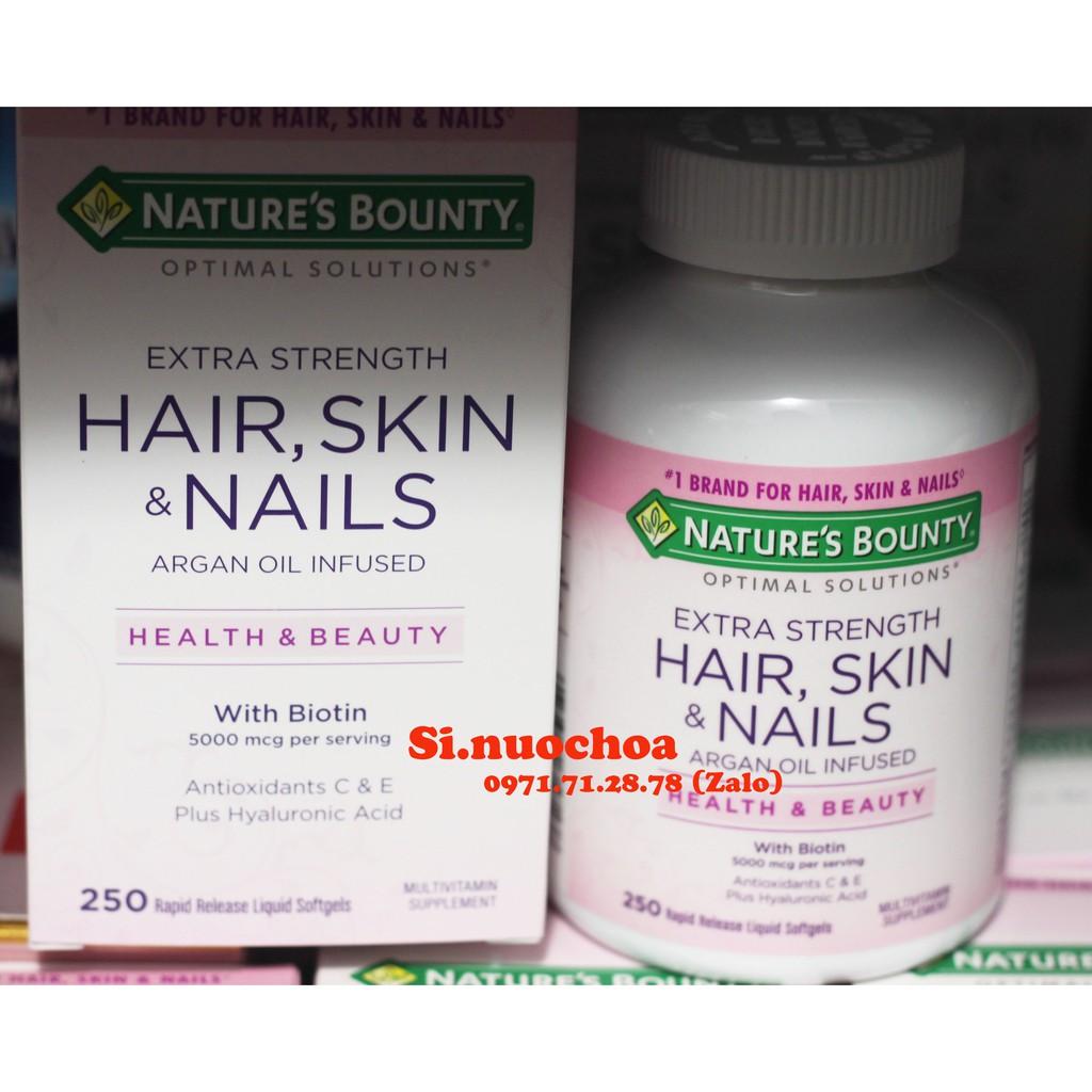 Viên uống đẹp tóc da móng Hair skin nail của Nature Bounty 250 viên của Mỹ - 3517899 , 839663786 , 322_839663786 , 384000 , Vien-uong-dep-toc-da-mong-Hair-skin-nail-cua-Nature-Bounty-250-vien-cua-My-322_839663786 , shopee.vn , Viên uống đẹp tóc da móng Hair skin nail của Nature Bounty 250 viên của Mỹ