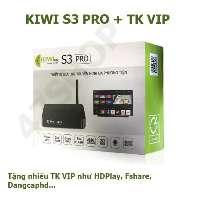 Đầu thu Tivi Android box KIWI S3 Pro 2GB-8GB | Chính hãng check được Seri
