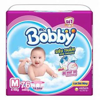 Combo 2 gói tã dán Bopby M76,L68,XL62,XXL56(tặng gối xinh cho bé)