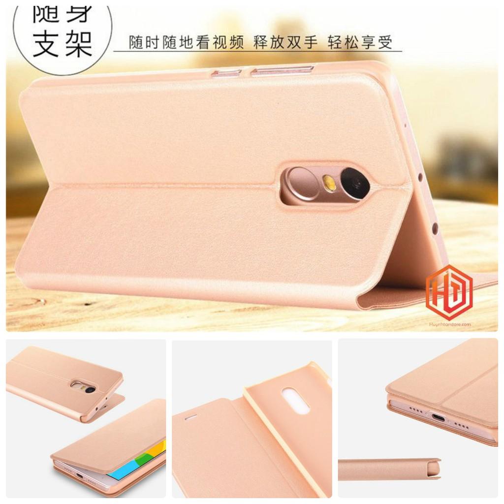 Xiaomi Redmi 5 Plus _ [B] Bao da cao cấp chát liệu da cực êm tay, có khe gập chống để bàn