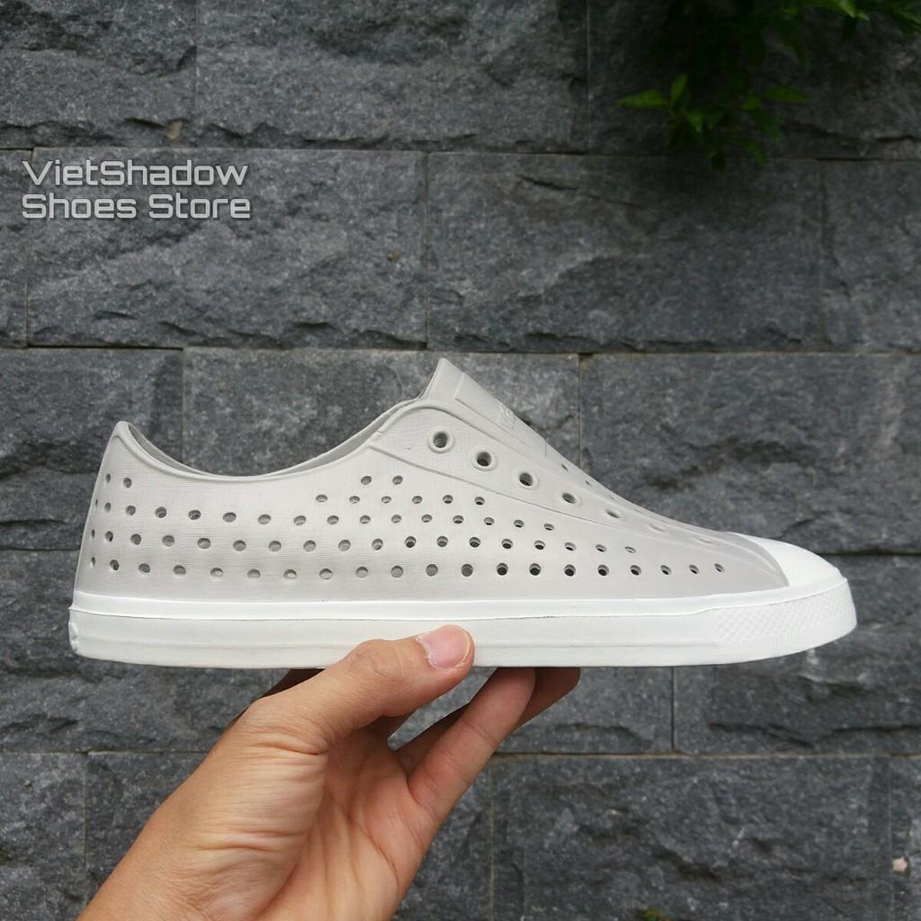 Giày nhựa Native Jefferson - chất nhựa E.V.A siêu nhẹ, không thấm nước - Màu ghi nhạt