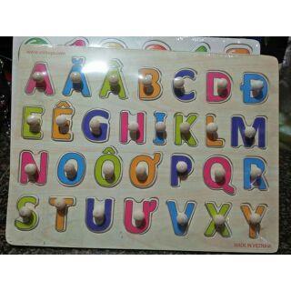 Bảng ghép có núm chữ cái tiếng việt