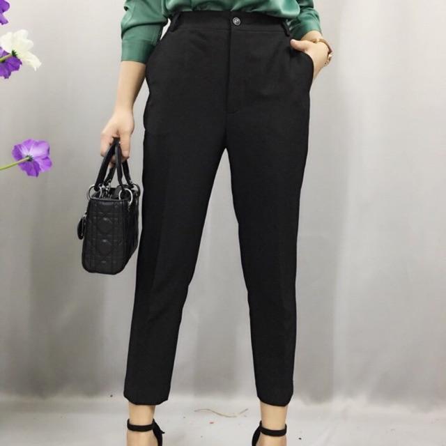 Quần beggy vải đen size S-XL