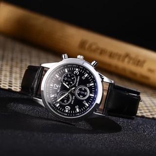 Đồng hồ thời trang nam McyKey dây da phong cách Tst8934