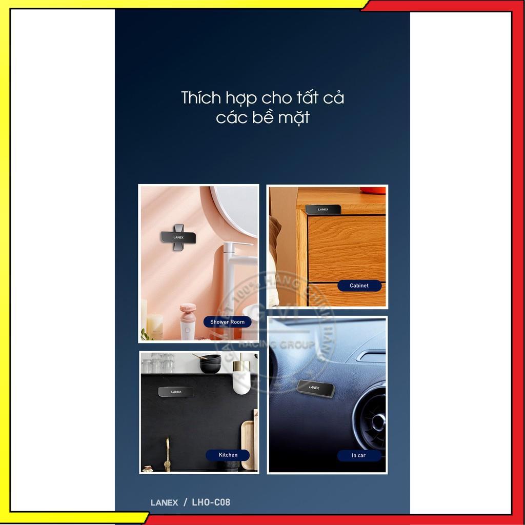 Giá đỡ điện thoại trên xe hơi LANEX LHO - C08 hợp kim nhôm cao cấp, dùng cho nhiều thiết bị