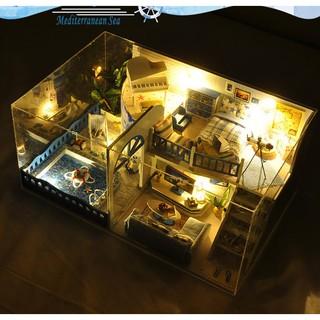 DIY Mô hình nhà mini phong các địa trung hải