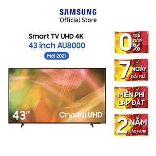 [Mã ELSAMHOT giảm 5% đơn 3TR] Smart Tivi Samsung Crystal UHD 4K 43 inch UA43AU8000KXXV – Miễn Phí Lắp Đặt