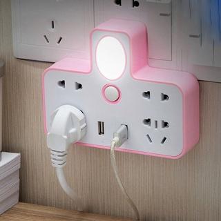Ổ cắm điện chữ T kết hợp đèn ngủ