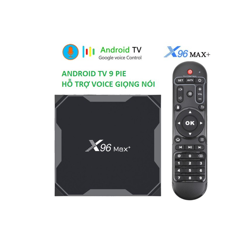 X96 MAX PLUS, Android TV 9.0, CPU S905X3, RAM 4GB, eMMC 32GB, Dual Band WiFi MU-MIMO, Bluetooth 4.1, LAN Gigabit 1000