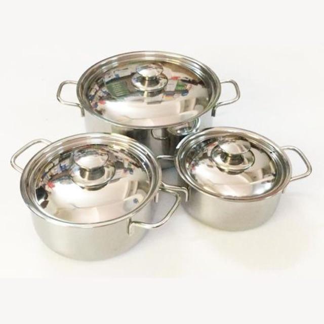 Bộ 3 nồi inox Sharp cao cấp dùng được bếp từ
