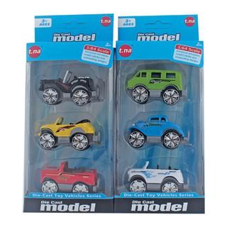 Bộ 3 xe mô hình kim loại (1 64) TNA TN-1018G