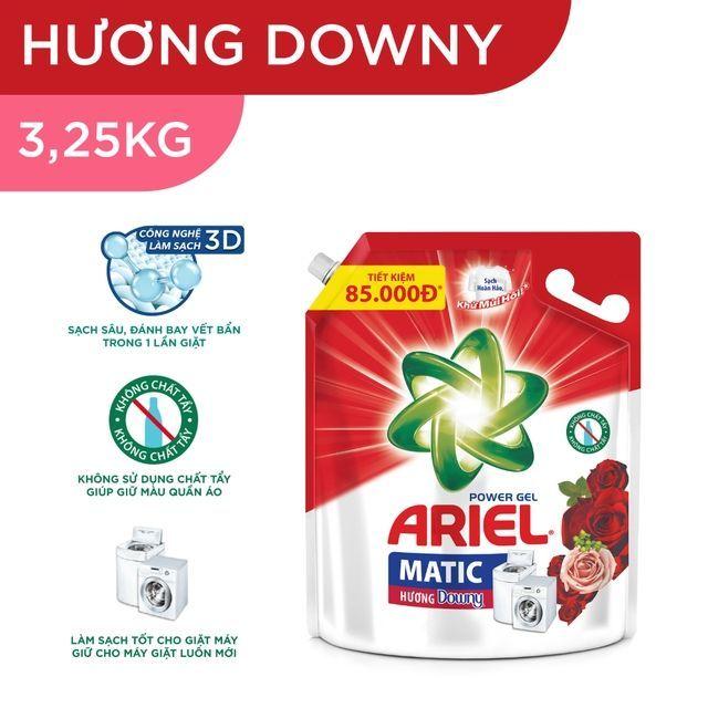 (Túi lớn)Nước giặt Ariel 3.25kg hương Downy đam mê